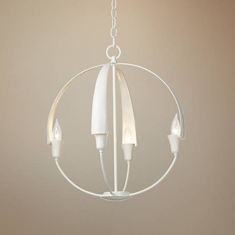 "Hubbardton Forge Cirque 19"" Wide Gloss White Chandelier"