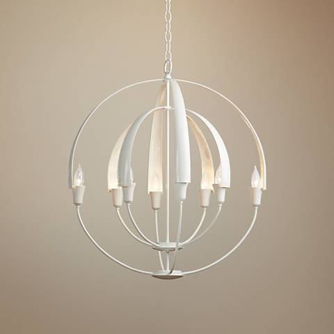"Hubbardton Forge Double-Cirque 25 1/2""W White Chandelier"