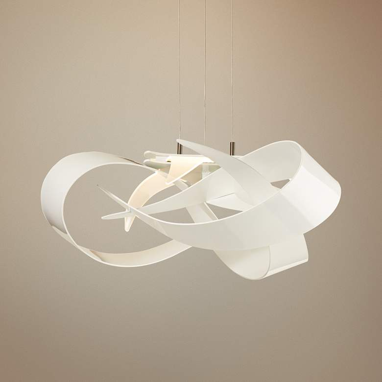"Hubbardton Forge Flux 26 1/2""W LED White Pendant"