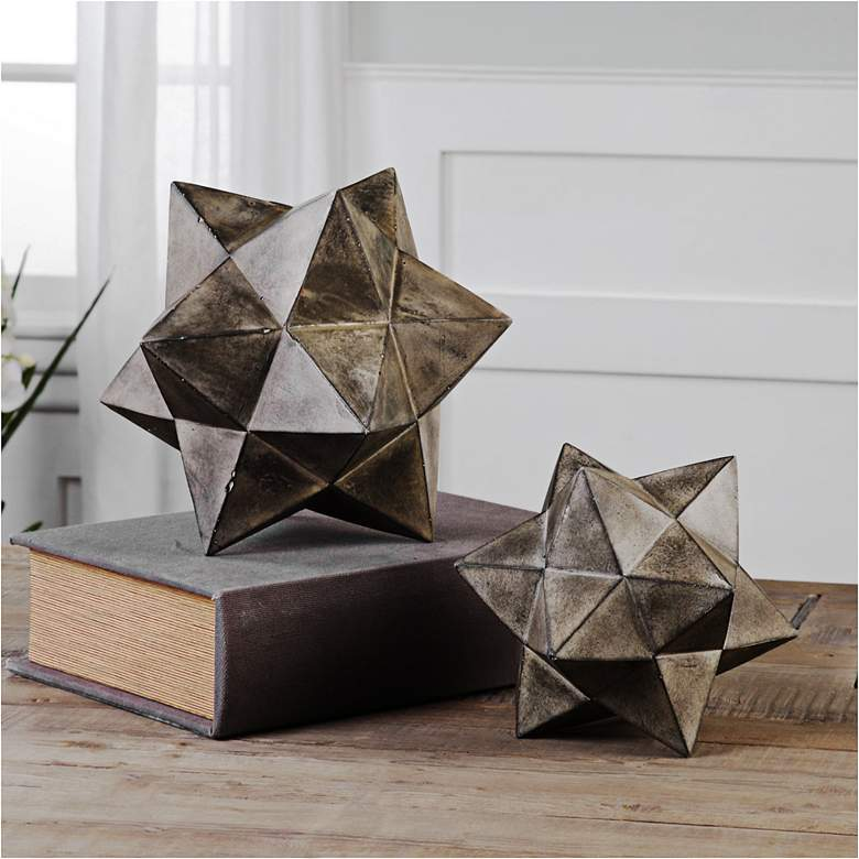 Eros Concrete Geometric Stars by Uttermost - Set