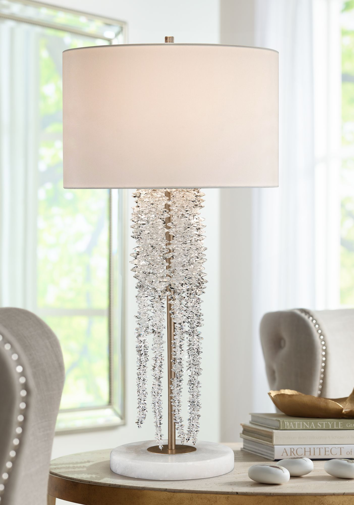 John richard lighting tsheendesign john richard small cascading waterfall crystal table lamp 9t760 lamps plus arubaitofo Gallery