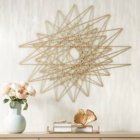"Emmons Gold Metal 33 3/4"" x 29"" Decorative Wall Art"
