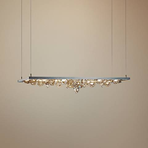 "Winter 53 1/2"" Wide Burnished Steel LED Island Pendant"