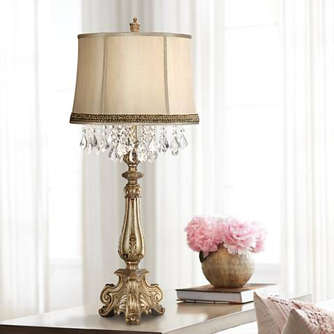 Dubois Console Table Lamp with Wave Trim