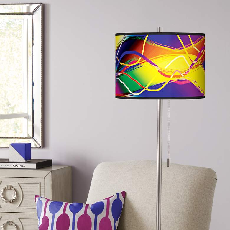 Colors In Motion Light Giclee Brushed Nickel Floor