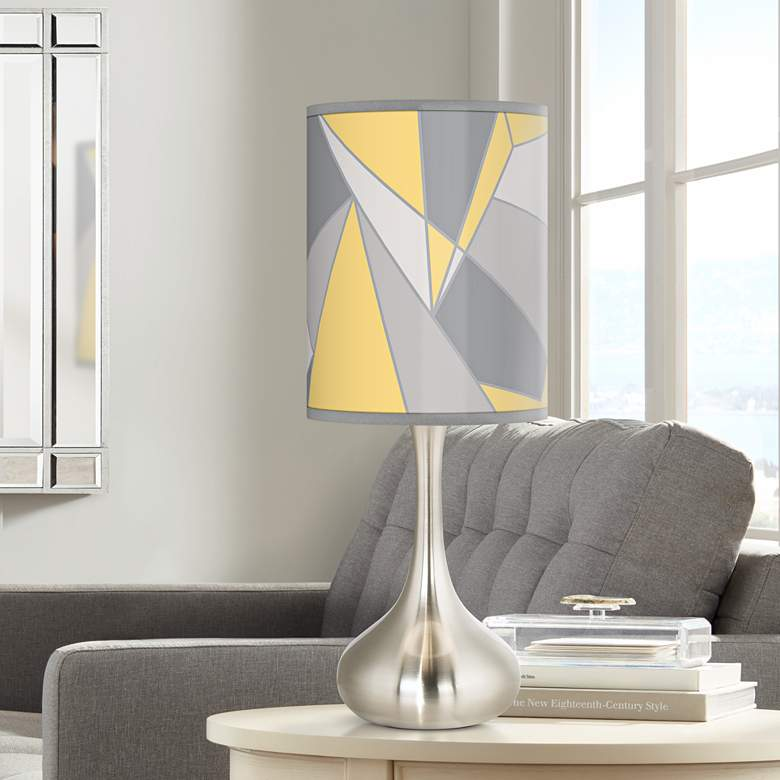 Modern Mosaic II Giclee Kiss Table Lamp