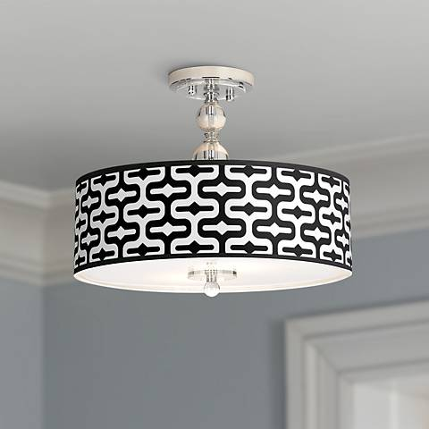 "Reflection Giclee 16"" Wide Semi-Flush Ceiling Light"