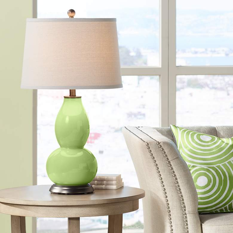 Lime Rickey Double Gourd Table Lamp