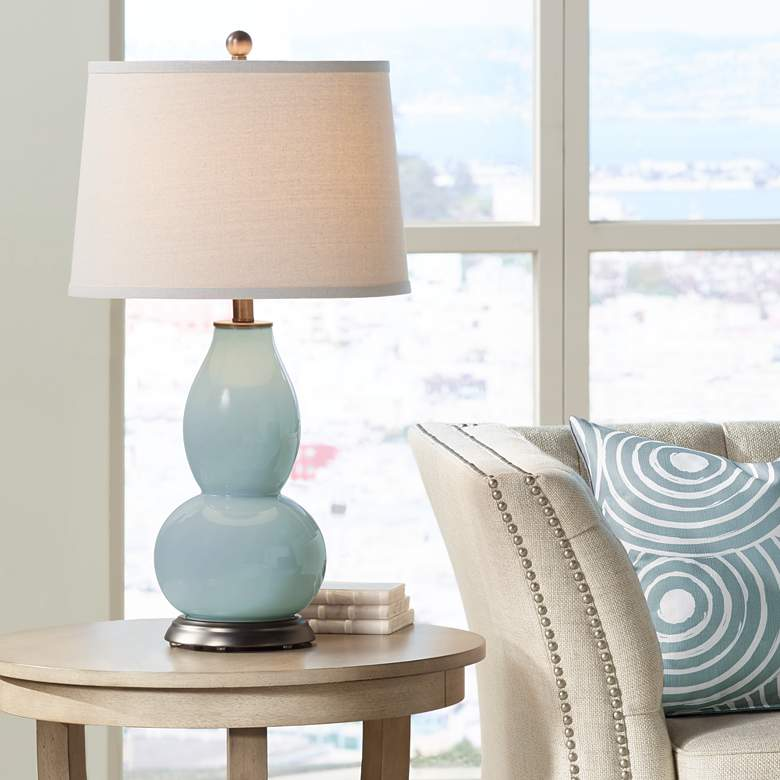 Aqua-Sphere Double Gourd Table Lamp