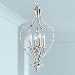 "Savannah Row 17 1/4"" Wide Brushed Nickel Foyer Pendant"