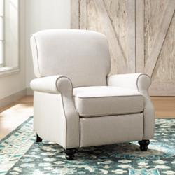 Ethel Barley Herringbone Push Back Recliner Chair