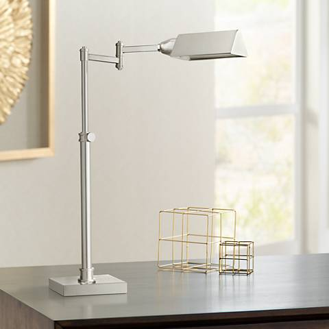Dimond Chesapeake Polished Nickel Metal Desk Lamp