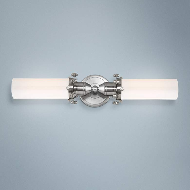 "Fulton 4"" High Satin Nickel 2-Light Wall Sconce"