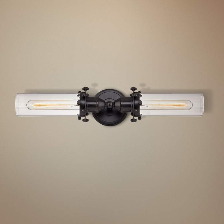 "Fulton 4"" High Oil Rubbed Bronze 2-Light Wall Sconce"