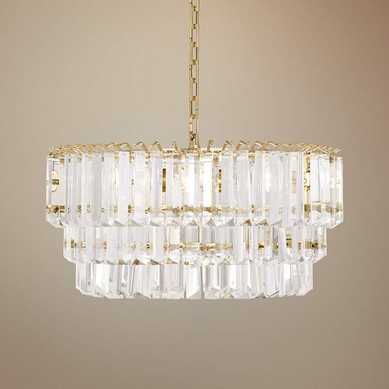 "Robert Abbey Spectrum 20""W Modern Brass Medium Chandelier"