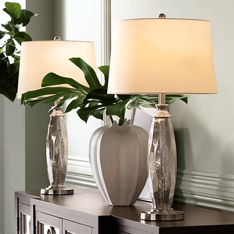 Carol Mercury Glass Table Lamps Set of 2