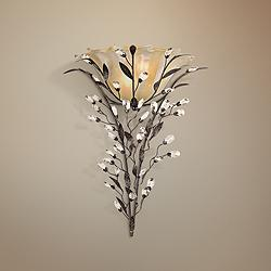 "Circeo 22"" High Crystal Flower Wall Sconce by Elk Lighting"