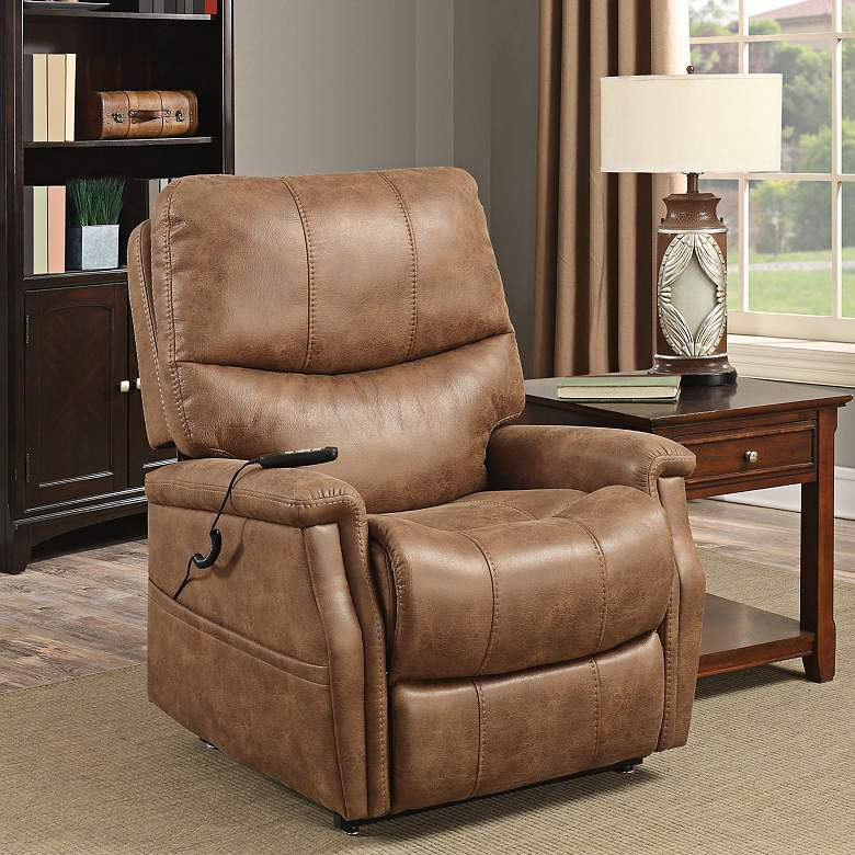 Badlands Saddle Faux Leather 2-Motor Recliner Lift Chair
