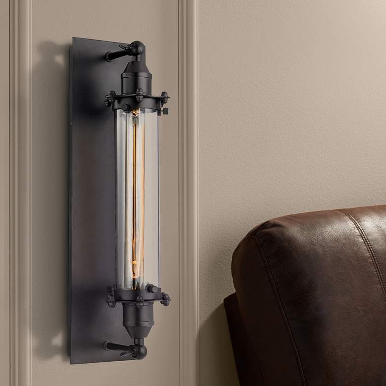 "Fulton 19"" High Oil Rubbed Bronze 1-Light Wall Sconce"