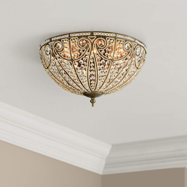 "Elizabethan 22"" Wide Dark Bronze 8-Light Ceiling Light"