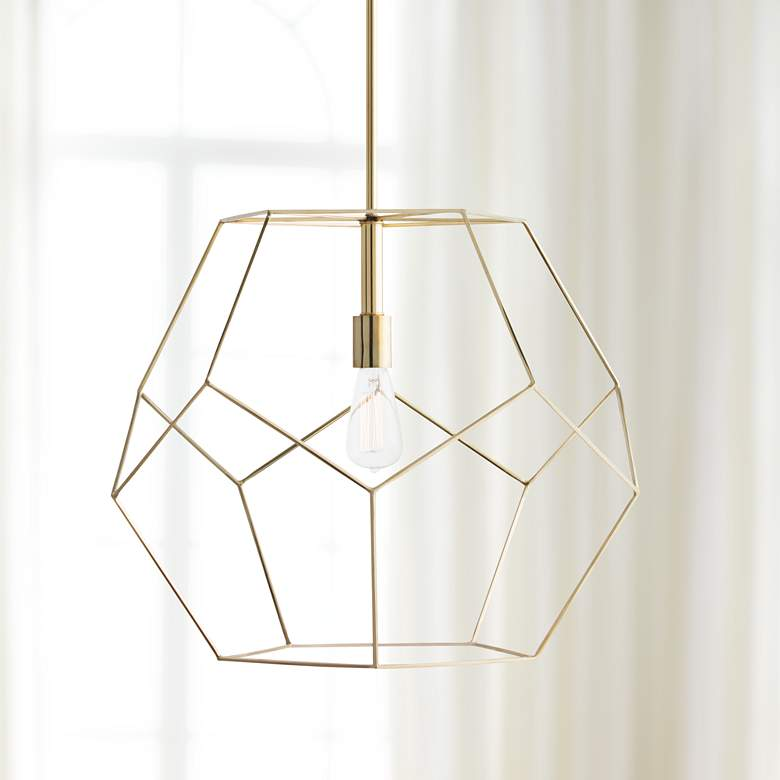 "Arteriors Home Mara 23 1/2"" Wide Polished Brass Pendant"