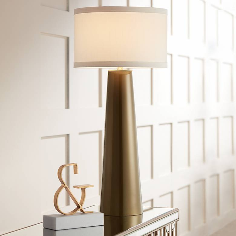 Possini Euro Karen Dark Gold Glass Table Lamp