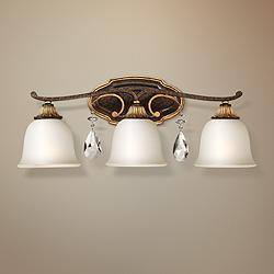 "Metropolitan Chateau Nobles 23 3/4""W Bronze Bath Light"