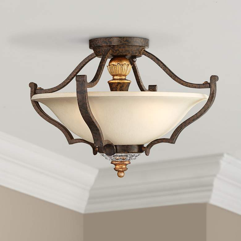 "Metropolitan Chateau Nobles 17"" Wide Bronze Ceiling Light"