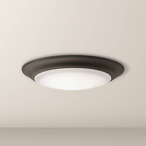 "Kichler 7 1/2"" Wide Olde Bronze 2700K LED Ceiling Light"