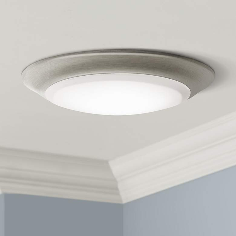 "Kichler 7 1/2""W Brushed Nickel 3000K LED Ceiling Light"