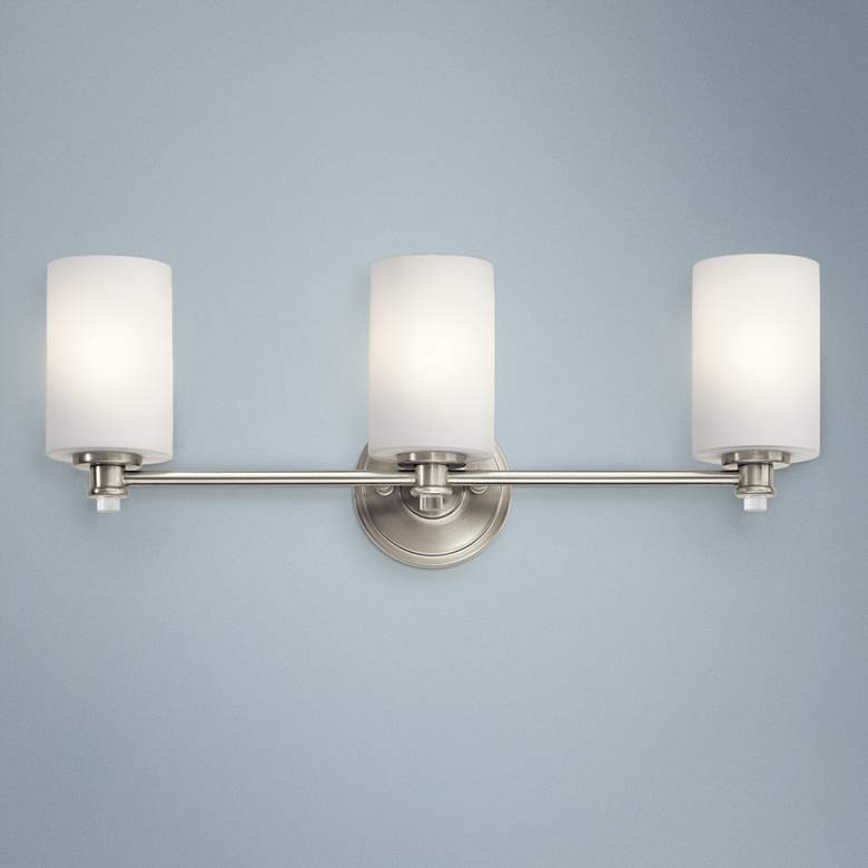 "Kichler Joelson 24"" Wide Brushed Nickel 3-Light Bath"