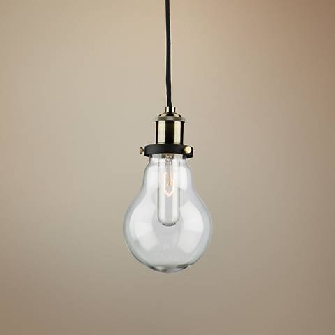 "Artcraft Edison 5 1/4"" Wide Matte Black Retro Mini Pendant"