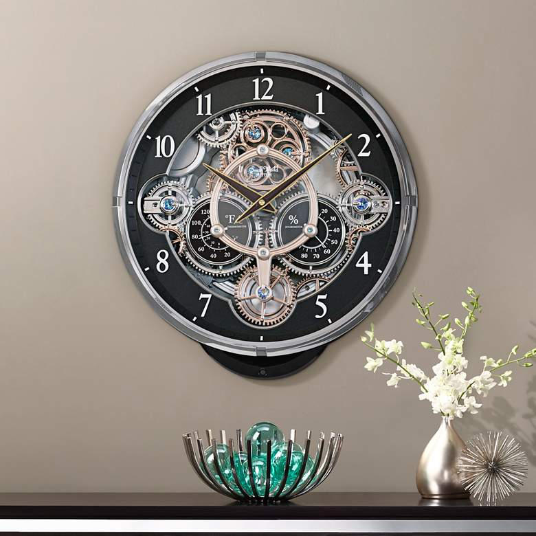 "Gadget 16 1/4"" High Chiming Wall Clock with"