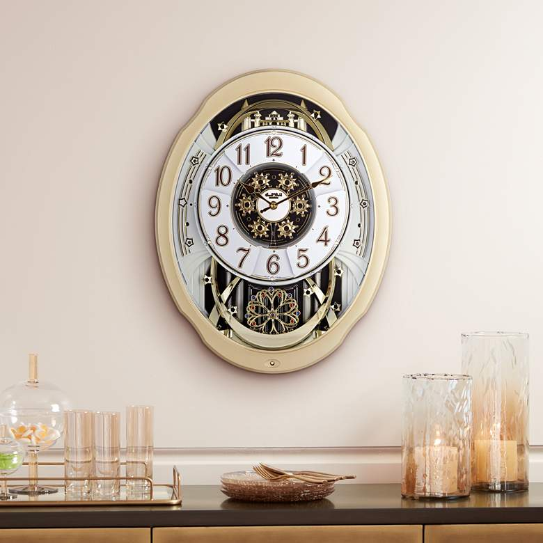 "Marvelous Swarovski Crystal 20 3/4"" High Motion Wall Clock"