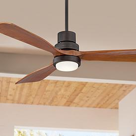 52 Casa Delta Wing Bronze Outdoor Led Ceiling Fan
