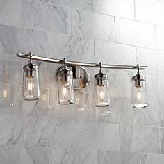 Brushed Nickel Bathroom Lights. Poleis 32 Wide Brushed Nickel Bath 4 Light Light