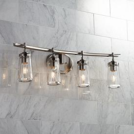 Terrific Bathroom Light Fixtures Vanity Lights Lamps Plus Download Free Architecture Designs Aeocymadebymaigaardcom