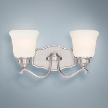 "Savannah Row 18"" Wide Brushed Nickel 2-Light Bath Light"