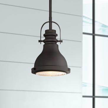 "Verndale 6 1/2"" Wide Bronze Industrial Mini Pendant"
