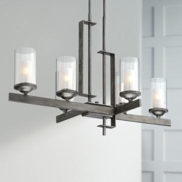 "Ribera 40"" Wide Silver Gray Kitchen Island Light Chandelier"