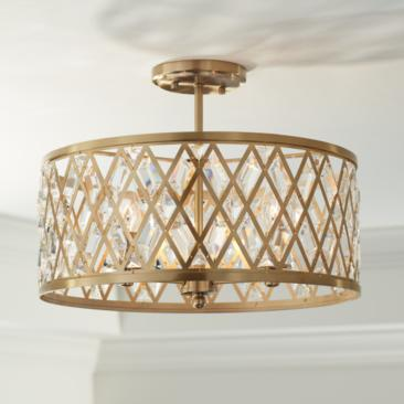 "Possini Euro Tanz 16 1/2"" Wide Satin Brass Ceiling Light"