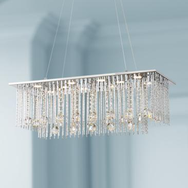 "Boyne 29 3/4"" Wide Chrome and Crystal LED Island Pendant"