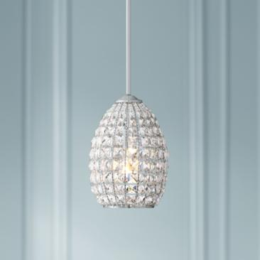 "Vona 7 1/2"" Wide Chrome and Crystal Mini-Pendant"
