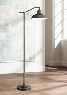 Bronze 360 lighting contemporary floor lamps lamps plus kayne downbridge floor lamp aloadofball Images