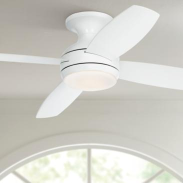 "52"" Casa Elite™ White LED Hugger Ceiling Fan"