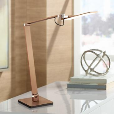 Possini Euro Harvard French Bronze LED Desk Lamp