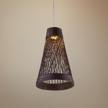 "Maxim Bahama 7 1/4""W Chocolate Rope LED Mini-Pendant"