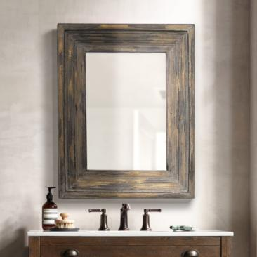 "Aden Distressed Wood 26 1/2"" x 34 1/2"" Mirror"
