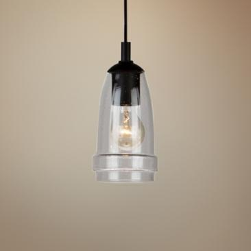 "Artcraft Nottingham 4 1/2""W Brushed Nickel Mini Pendant"