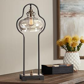 Uttermost Cotulla Aged Black Iron Buffet Table Lamp
